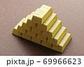 金の延べ棒 ゴールドバー CGイメージ 69966623