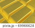 金の延べ棒 ゴールドバー CGイメージ 69966628
