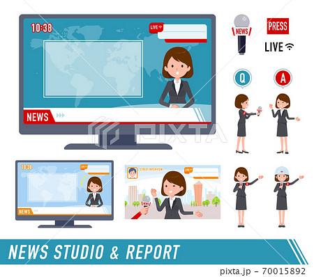 flat type business women_TV news report 70015892