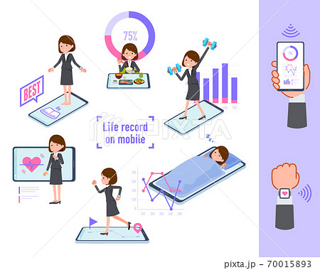 flat type business women_Lifelog on mobile 70015893