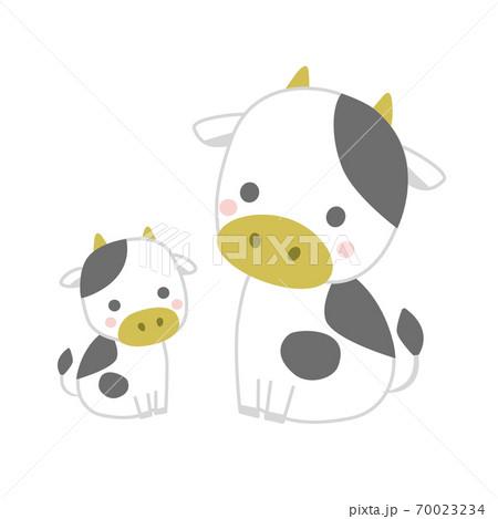 牛の親子 70023234