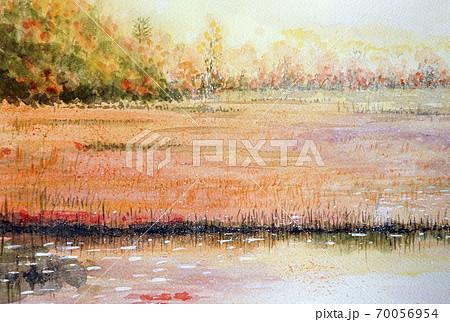 紅葉に染まる尾瀬の秋 70056954