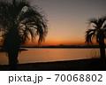葛西臨海公園からの夕暮れの富士 70068802