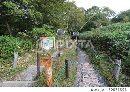 群馬県片品村の尾瀬の鳩待峠の登山口 70071391