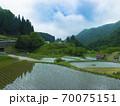 鳥取県 つく米の棚田(日本の棚田百選) 70075151