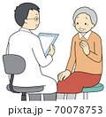 問診を受ける高齢者 70078753