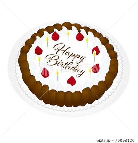 誕生日ケーキ イラスト 70093120