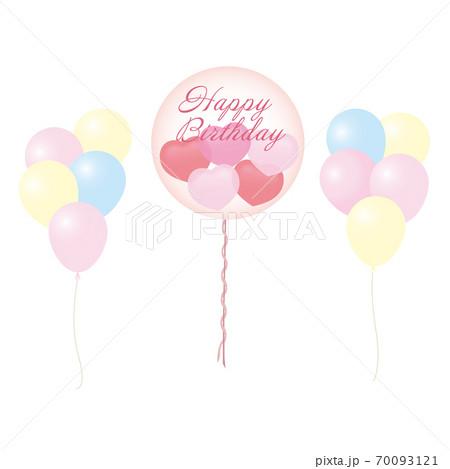 ハート入りクリアバルーン(Happy Birthday文字入り) 70093121