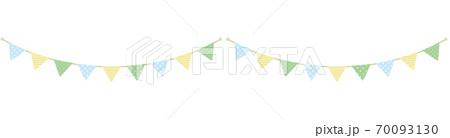 水玉・ストライプ・星の模様が入ったガーランド(2連) 70093130
