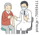 予防接種を受ける高齢者 70093411