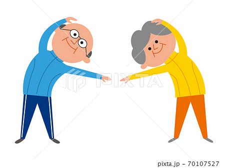運動すシニア男性と女性 70107527