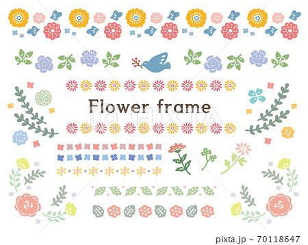 かわいい花のフレームセット 70118647
