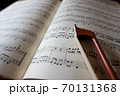楽譜と弓 イメージ 70131368