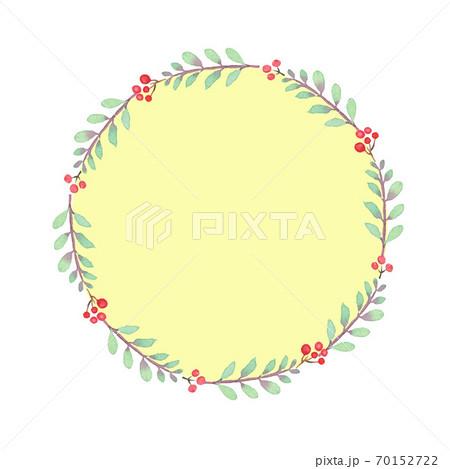 水彩で描いた植物のフレーム 70152722