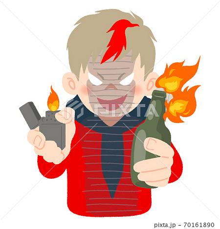 炎上商法を狙い悪そうな顔をする男性のイメージイラスト 70161890