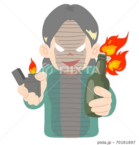 炎上を狙い悪そうな顔をする中高年女性のイメージイラスト 70161897