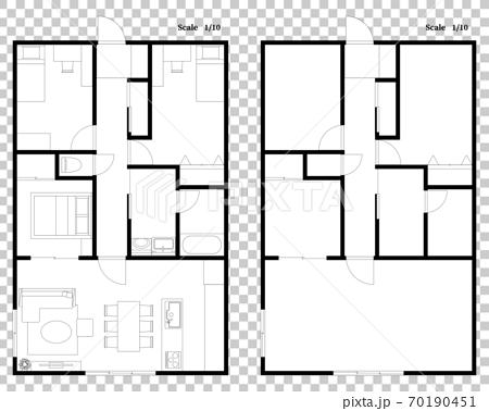 マンション・住宅の間取り図 70190451
