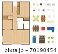 マンション・住宅の間取り図レイアウトセット 70190454