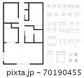 マンション・住宅の間取り図レイアウトセット 70190455