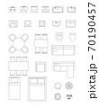 家具・家電 平面図セット 70190457