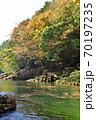 奥津渓の紅葉(岡山県苫田郡) 70197235