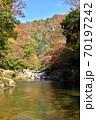 奥津渓の紅葉(岡山県苫田郡) 70197242