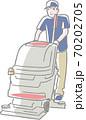 掃除機を使う清掃員 70202705