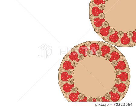 デコレーションケーキのイラスト背景 70223664