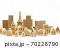 東京の住宅模型 白背景 70226790