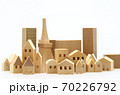 東京の住宅模型 白背景 70226792