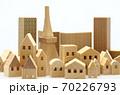 東京の住宅模型 白背景 70226793