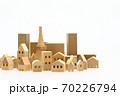 東京の住宅模型 白背景 70226794