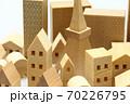 東京の住宅模型 白背景 70226795