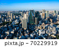 六本木ヒルズから眺める東京の街並み 六本木一丁目方面 70229919