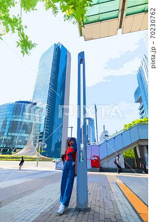 名古屋を旅行する若い女性 70230762