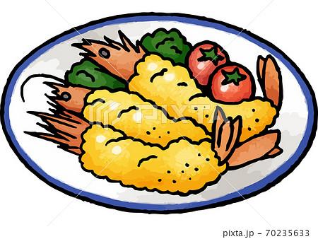 【手描き食べ物イラスト】エビフライのイラスト 70235633
