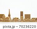 東京の住宅模型 白背景 70236220