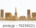 東京の住宅模型 白背景 70236221