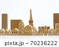 東京の住宅模型 白背景 70236222