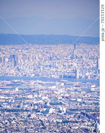大阪ミナミ方面ビル群・阿倍野ハルカス 70253529