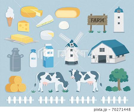 Ranch material set illustration 70271448