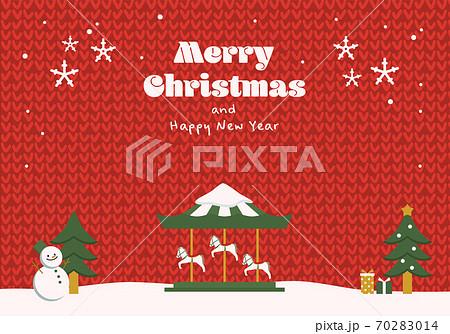 クリスマスのイラスト ニット背景 70283014