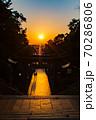 宮地嶽神社、光の道 70286806