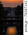 宮地嶽神社、光の道 70287142