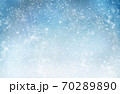 Decorative Christmas background with bokeh lights and snowflakes. 70289890