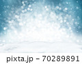 Decorative Christmas background with bokeh lights and snowflakes. 70289891