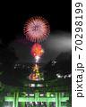 宮地嶽神社、光の道の花火 70298199