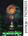 宮地嶽神社、光の道の花火 70298225