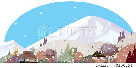 田舎の冬景色 70300253