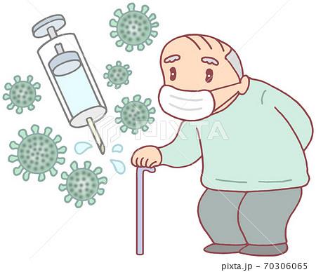 新型コロナワクチンの接種(お爺さん) 70306065